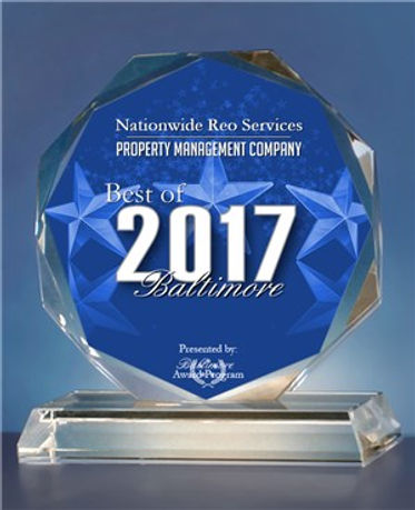 Nationwide REO services Best of Baltimore Award