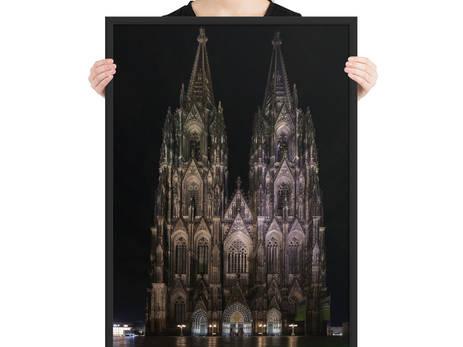 Kölner Dom gerahmt