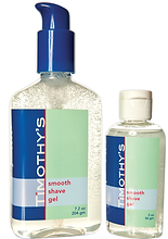 Timothy's smooth shave gel package design