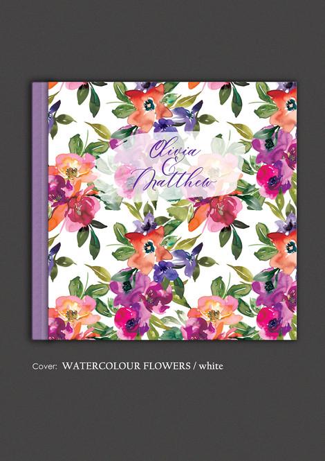 Watercolour Flowers / white