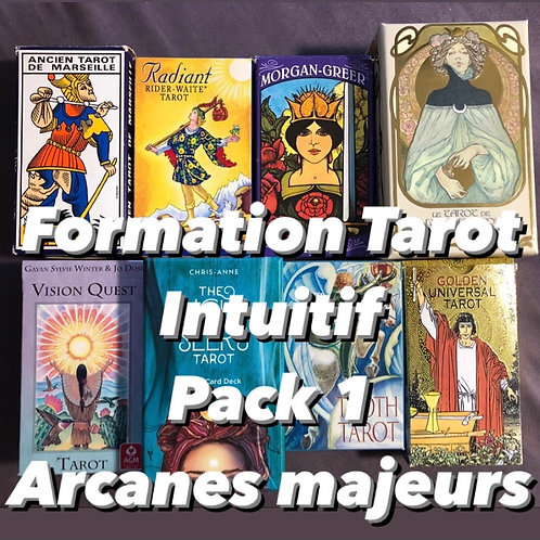 FORMATION TAROT. INTUITIF  PACK 1 - ARCANES MAJEURS