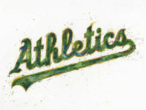 Oakland Athletics Watercolor Logo