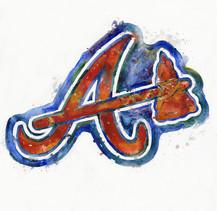 Atlanta Braves Watercolor Logo