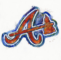 Atlanta Braves Watercolor Logo