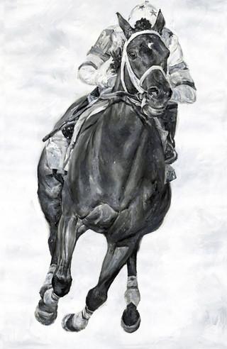 Black & White Racehorse 5