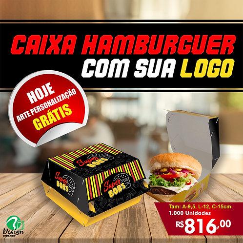 G - 1000 Unid. Embalagem Hambúrguer Personalizada