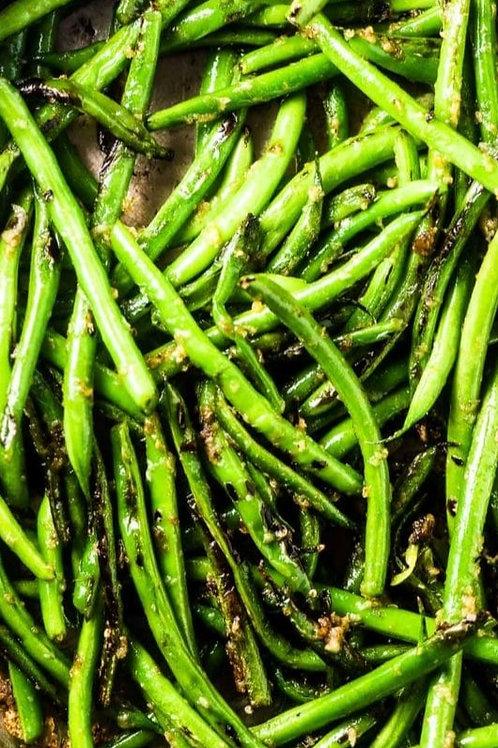 Fresh Green Beans Tossed In Garlic Butter Sauce