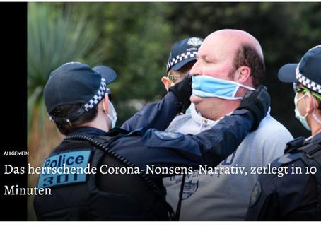 Das herrschende Corona-Nonsens-Narrativ, zerlegt in 10 Minuten