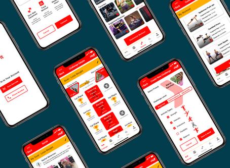 UI Design for a fitness app