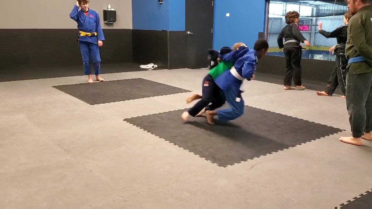 We've been going over different throws and takedowns in our children's classes lately, so the kids got to play a takedown game this past Monday and Saturday. The game was not only fun but also showed the kids what it's like to hit takedowns live. We