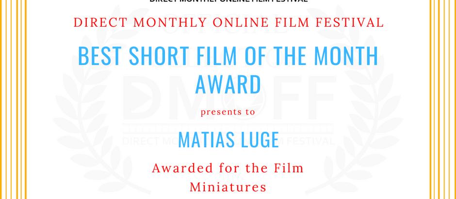 """Miniatures wins """"Best Short"""" and """"Best Horror Short"""""""