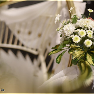 escalera vestida casamiento