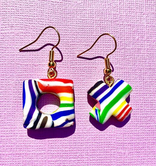 Updated Rainbow Swirl Quearrings