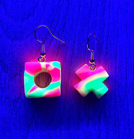 Acid Sourz Neon Quearrings