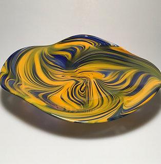 Blue/Mango Swirly Bowl