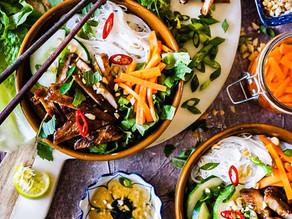 Vietnamese Noodle Bowl with Grilled Pork (Bún Thịt Nướng)