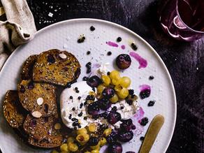 Roasted Grapes,  Burrata and Crisps + Balsamic 'Caviar' Pearls (a Non-Recipe Recipe)