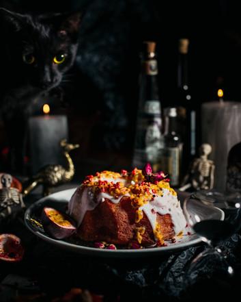 Lemon Passionfruit and Rose Cake (Halloween Theme)