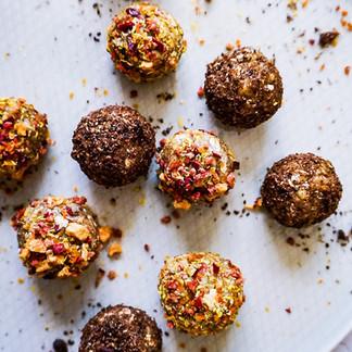 Maple Walnut Energy + Protein Balls