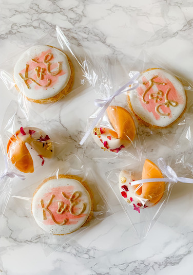 Wedding Cookies and Fortune Cookies