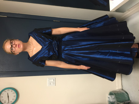 Blue Dress and Jacket Final Fitting Fron