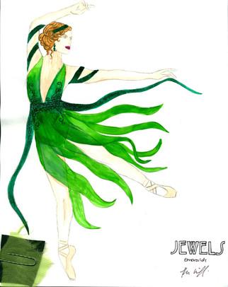 Emeralds Art Nouveau Female