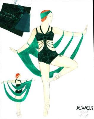 Emeralds Art Deco Female