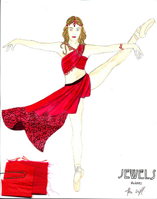 Rubies Art Nouveau Female