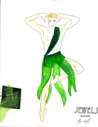 Emeralds Art Nouveau Male