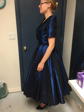 Blue Dress and Jacket Final Fitting Side