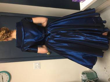 Blue Dress and Jacket Final Fitting Back