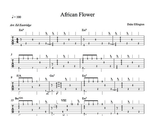 African Flower Guitar Tab