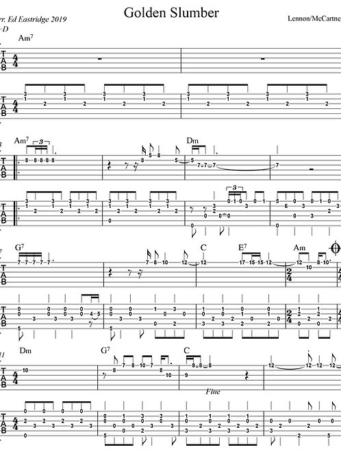 Golden Slumbers- Beatles (Guitar Duo Tab)
