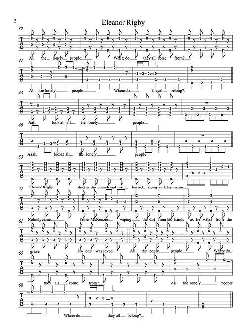 Eleanor Rigby Duo Guitar Tab