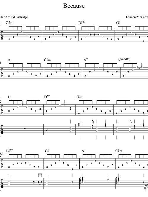 Becuase- Beatles (Guitar Duo Tab)