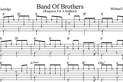 Band of Brothers Guitar Tab