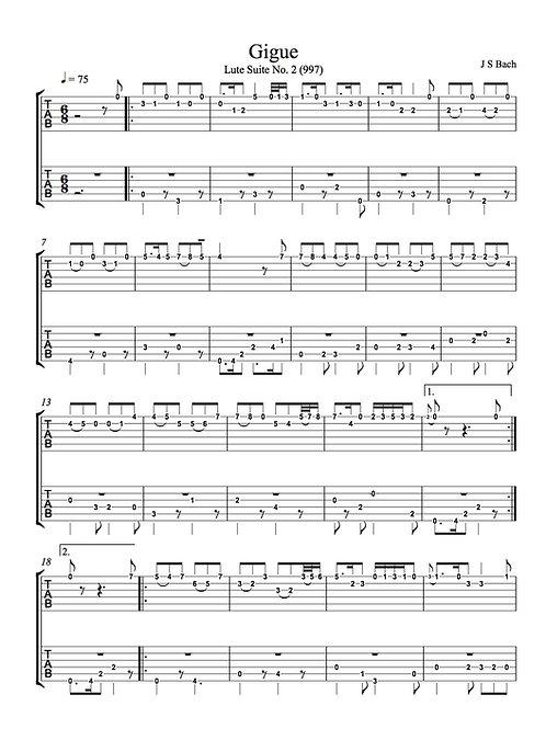 Bach Gigue BVW 997 (guitar duo)