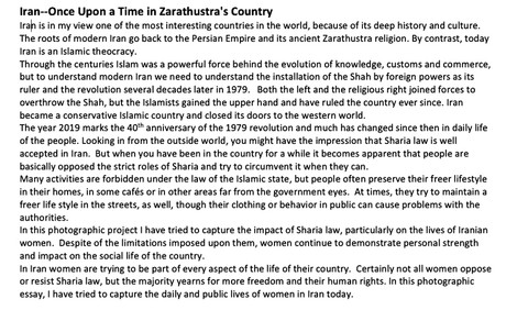 Iran--Once Upon a Time in Zarathustra's Country
