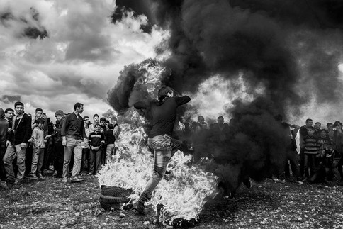 Newroz Festival in Peacetime When talks began between Turkey and the PKK in 2012, people's hopes were high. They started to feel safe and celebrated the new year's Newroz festival in freedom. Suruç, Turkey 2015