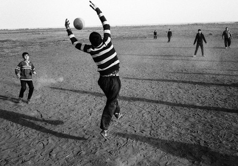 Game Time by Lake Urmia Lake Urmia is a salt water lake in Iran. In recent years the water level has decreased due to over irrigation in the region as well as the effects of climate change. Winds carry the salt from the lake to the farmers' lands nearby, destroying the soil and forcing many villagers to leave their homes. Urmia, Iran 2019