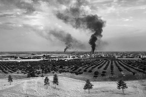 Turkish Military Bombing Serê Kaniyê In 2019, Turkey attacked the Kurdish area of Rojava in Syria. After a few weeks of war, Turkey occupied the city of Serê Kaniyê (Ras al-Ayn ). Ras al-Ayn, Syria 2019