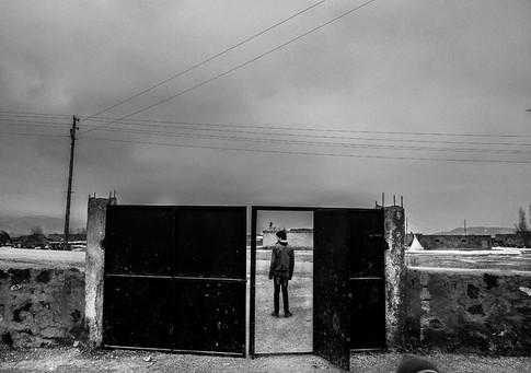 The School It is forbidden to speak Kurdish in schools; only Turkish is allowed. When children walk outside the door, they return to their Kurdish mother tongue. Doğubeyazıt, Turkey 2016
