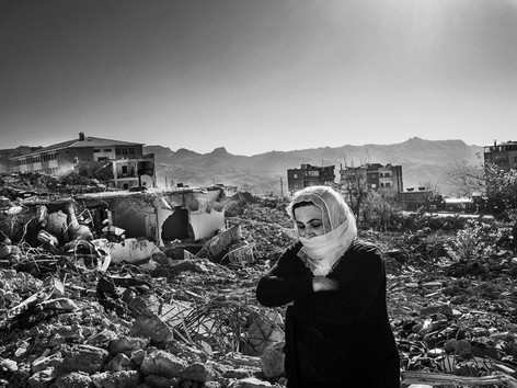 A Woman Tries to Find Her Home after the Occupation The Turkish army occupied the city of Şırnak from 14 March - 16 November 2016. When the people returned to their city, they could not find their homes, because it had been totally destroyed by the Turkish military. Şırnak, Turkey 2016
