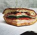 Kött och ost Sandwich