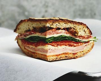 Fleisch und Käse-Sandwich