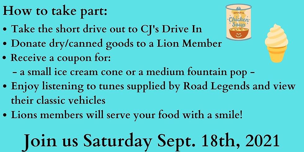 Food Bank Fundraiser: CJ's: Sept 18
