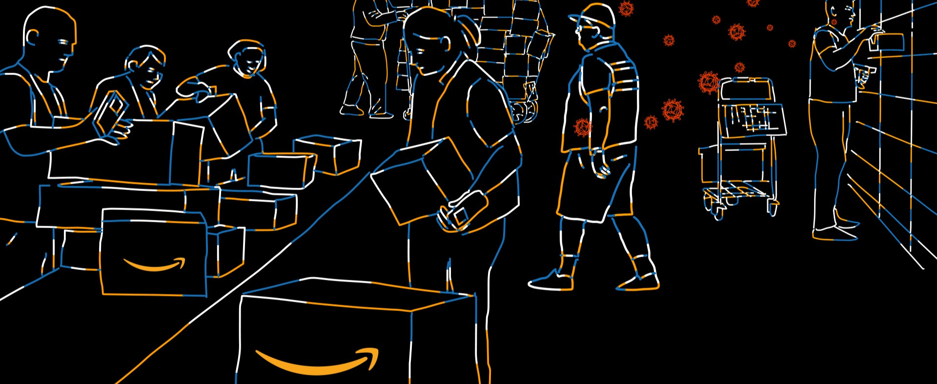 Inside an Amazon Warehouse during Covid-19