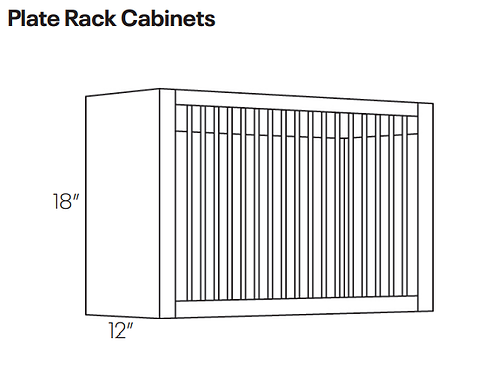 Plate Rack Cabinets-PR3018
