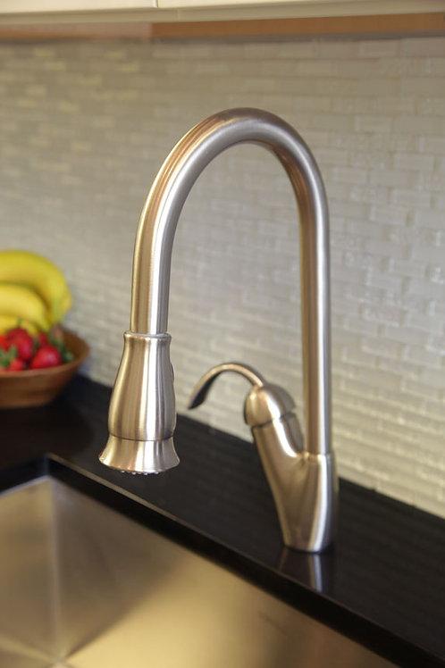 Single Handle Kitchen Faucet  Brushed Nickel 8002 011 02