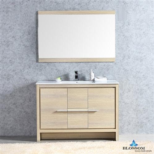 "Blossom Milan 48"" Briccole Oak Vanity - Single Basin - Mirror V80144820"